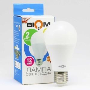 LED лампа светодиодная 12Вт E27 Biom BT-512 A60