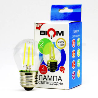 LED лампа светодиодная Biom FL-302 G45 4W E27