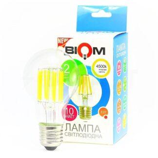 LED лампа светодиодная Biom FL-313 A60 10W E27 3000K