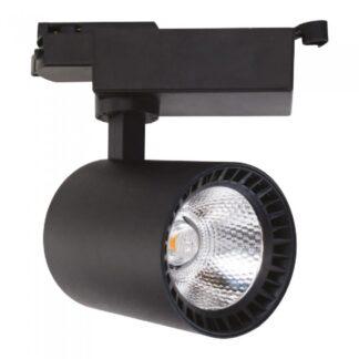 LED трековый светильник светодиодный 24W 4200K чёрный