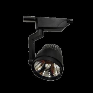 LED трековый светильник 25Вт 6400К чёрный корпус