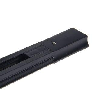 Профиль (шинопровод) однофазный для трековых светильников LED ZL4004 ECO 1 метр чёрный