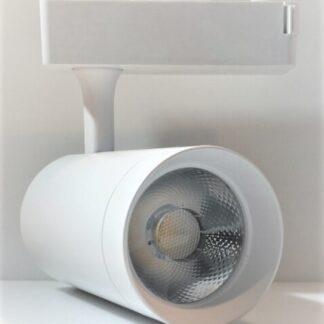 LED трековый светильник светодиодный 30Вт 6400К премиум серия цвет белый