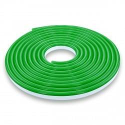 LED NEON FLEX светодиодный гибкий неон зелёный 220Вт SMD3528 120LED на метр IP65 для улицы