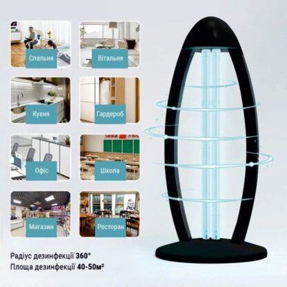 Кварцевый бактерицидный светильник 38Вт Д\У безозоновый