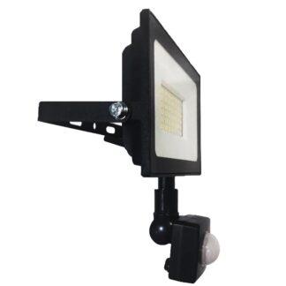 LED уличный прожектор с датчиком движения и освещения 50Вт ULTRA SLIM 4500Lm IP65