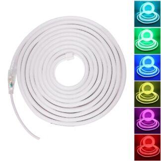 Rgb Led Neon Light 2835 5050 Smd 120leds Waterproof Flex Neon Strip